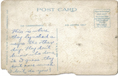Indiana Lynching Postcard