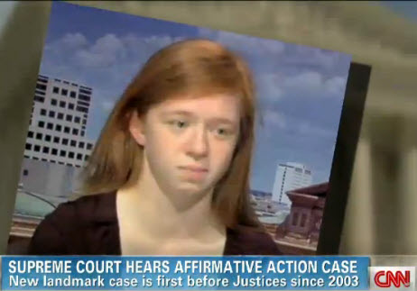 Screenshot of Abigail Fisher on CNN