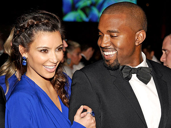 Celebrities Kim Kardashian and Kanye West