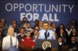 President Obama giving speech