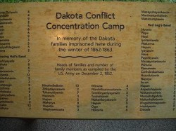 Dakota Conflict Concentration Camp