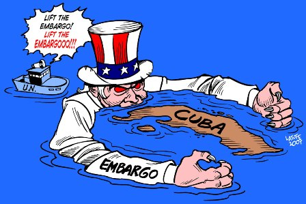 Cuban Embargo Political Cartoon