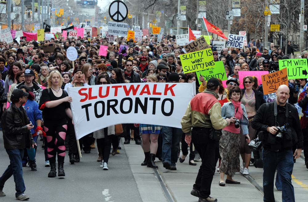 Protesters in SlutWalk Toronto