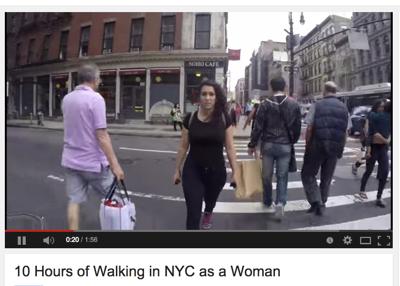 Screenshot of the viral video about street harassment
