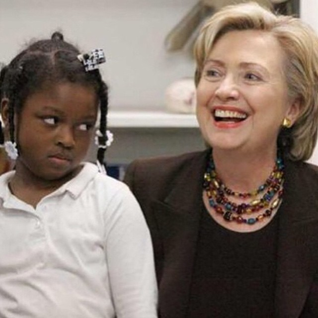 Little Girl Gives Side-Eye to Hillary Clinton