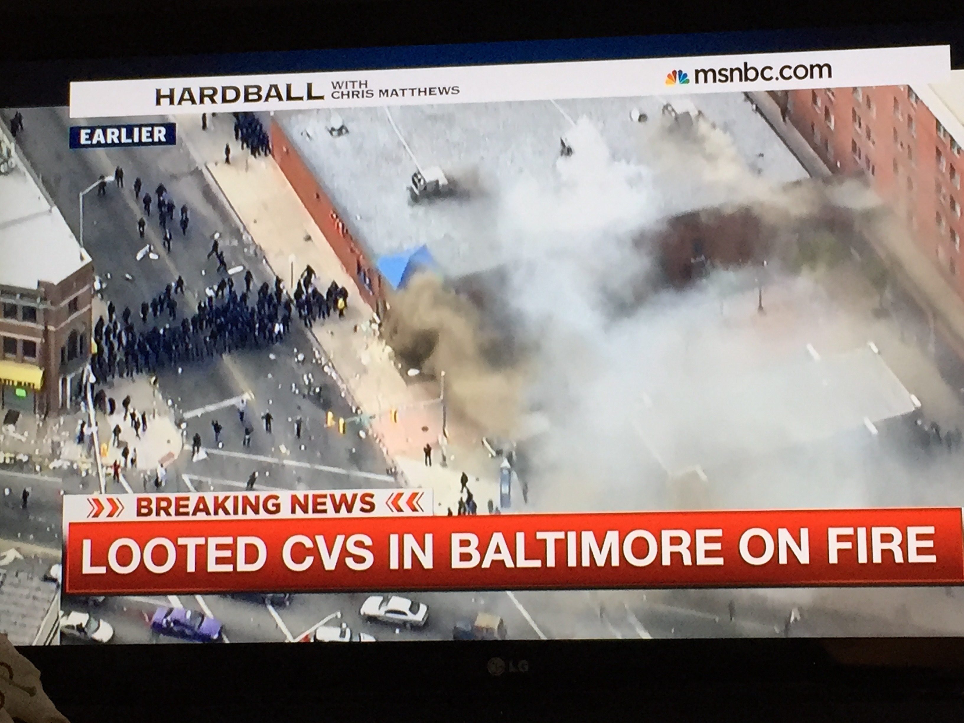 Cable News Focuses on Baltimore CVS