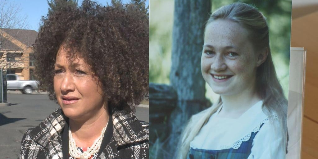 Rachel Dolezal split screen