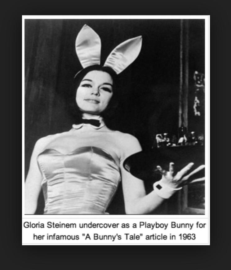 Gloria Steinem bunny