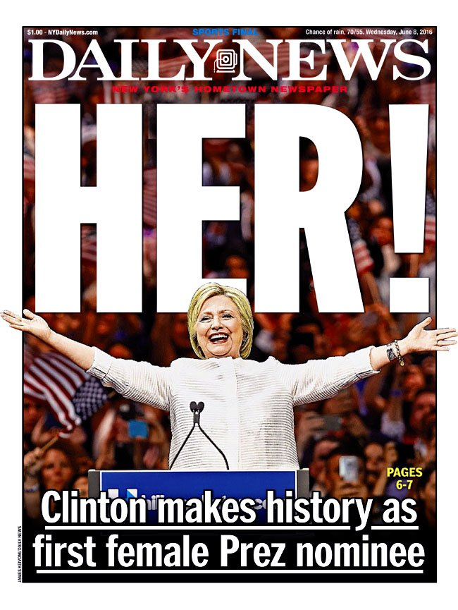 Hillary on NYDaily News