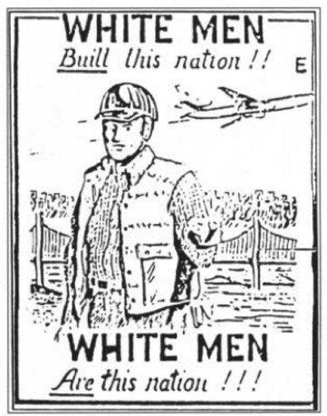 white men buildings