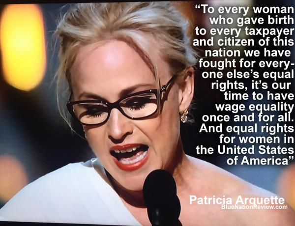 Arquette speech with quote