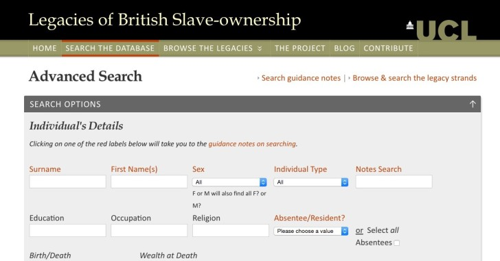 Legacies of British Slave-owners
